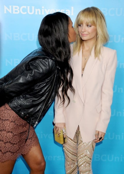Nicole Richie and Joy Bryant goofed off at the NBC TCAs party in LA in January.