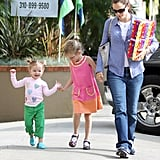 Jennifer Garner took her girls to a party in LA in May 2011.
