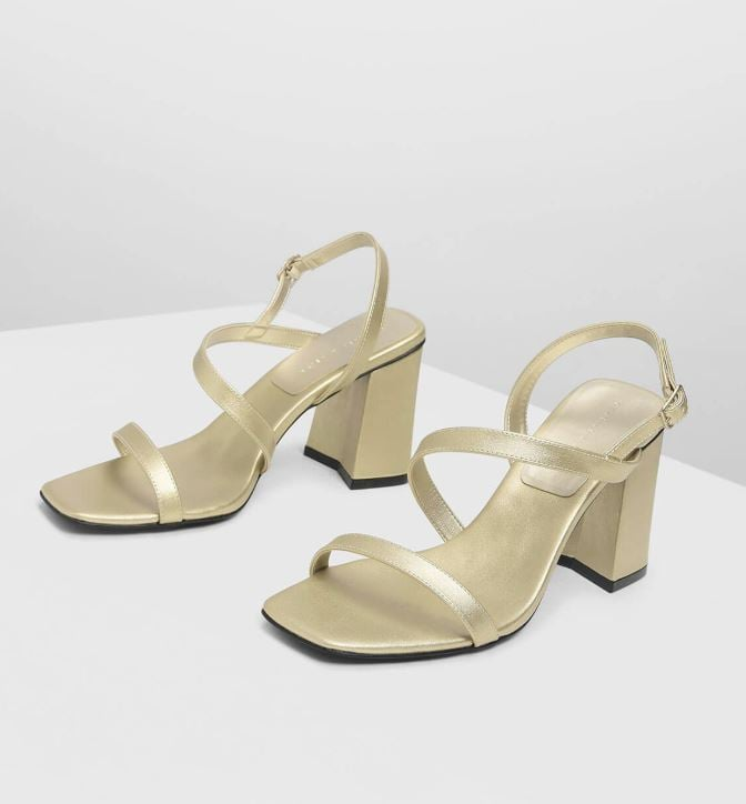 0dcc89ec3 Charles & Keith Asymmetrical Ankle Strap Heel ($79) | Best Strappy ...