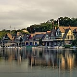 Admire the beauty of Boathouse Row along the Schuylkill River.