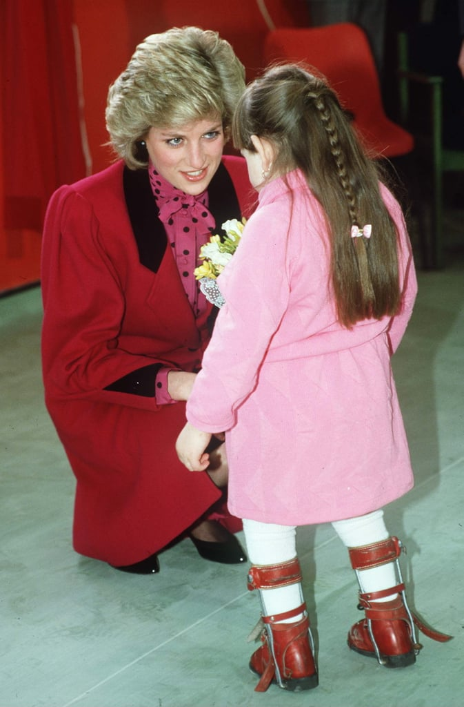 Diana cradled a sick child in her arms during her visit to Imran | Princess Diana With Kids Pictures | POPSUGAR Celebrity Photo 26