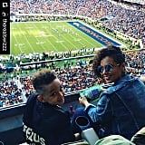 In February 2016, Alicia attended Super Bowl 50 with her son.