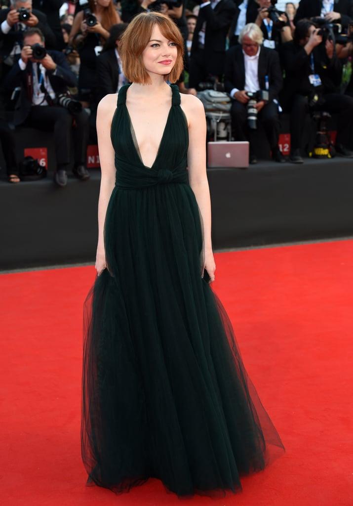 Emma Stone at the Birdman Premiere During the Venice Film Festival