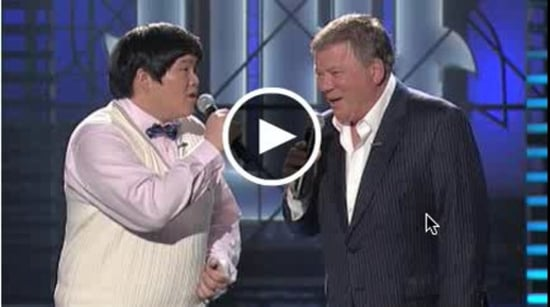 William Shatner and Lin Yu Chun on Lopez Tonight