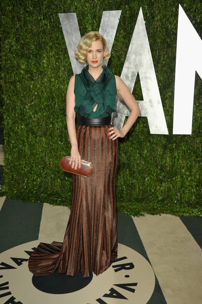 January Jones at the Vanity Fair party.