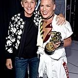 Ellen DeGeneres and Pink