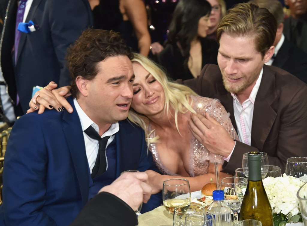 Pictured: Johnny Galecki, Kaley Cuoco, and Karl Cook