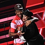 Tyler the Creator and His Mom at the 2020 Grammys