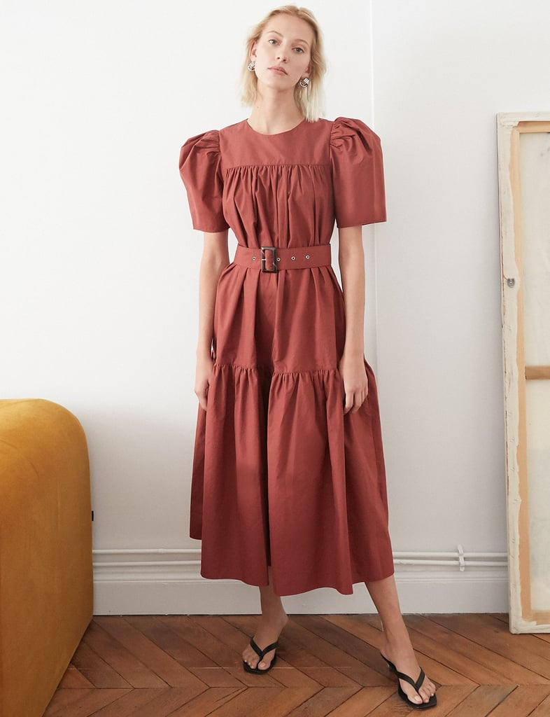 Pixie Market Camille Brown Belted Dress