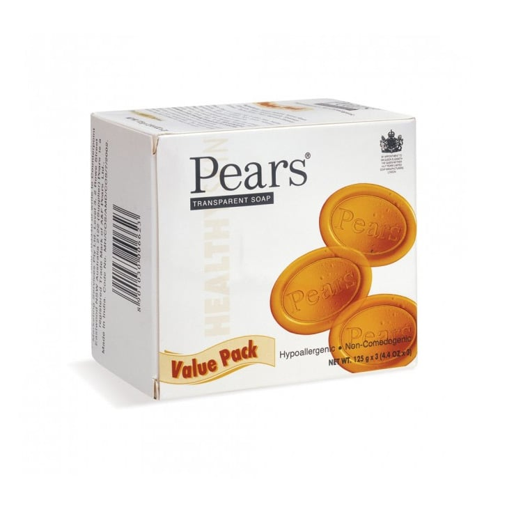 Pears Transparent Soap, $6.59 (for a value pack)