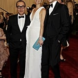 Claire Danes had Gilles Mendel and her husband Hugh Dancy by her side for the gala.