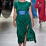 With its ruffle sleeves and emerald green hue, we know that this jacquard dress would look lovely on Michelle.