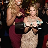 Pictured: Katie Couric and Laverne Cox