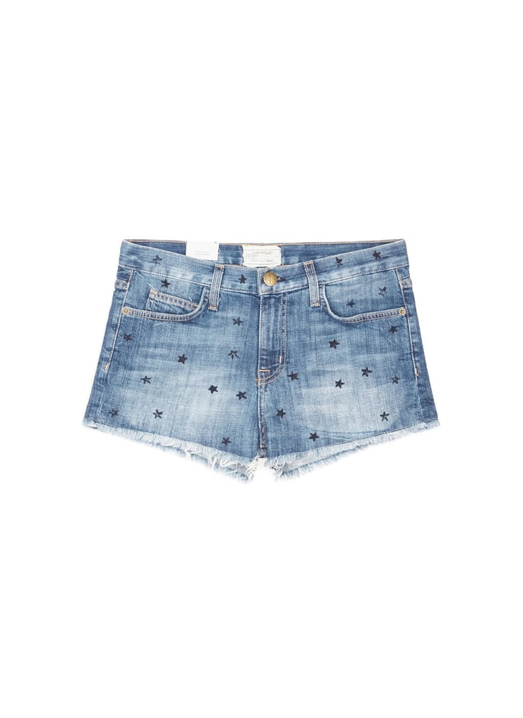 Current/Elliott The Boyfriend Star Print Cutoff Denim Shorts ($200)