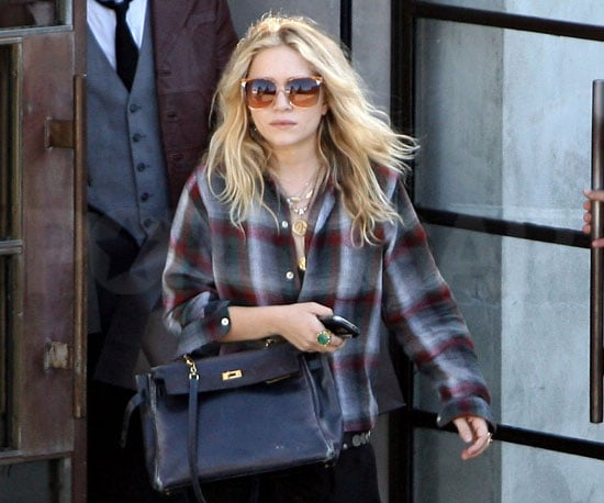 Photo Slide of Mary-Kate Olsen Leaving Maxfield