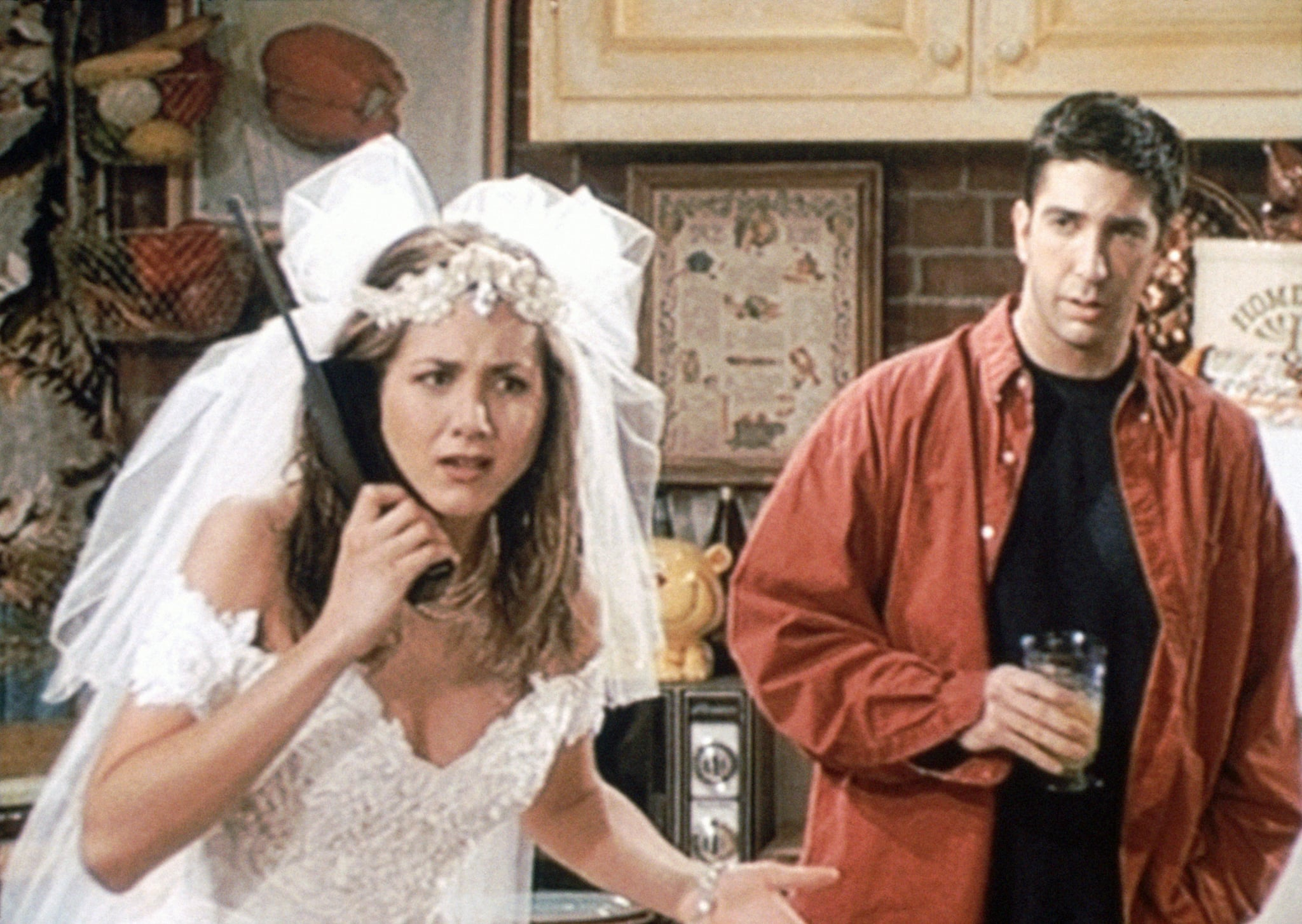 FRIENDS, (from left): Jennifer Aniston, David Schwimmer, 'Pilot', (Season 1, aired Sept. 22, 1994), 1994-2004,  Warner Bros. / Courtesy: Everett Collection