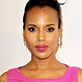 It's been quite a week for Kerry Washington. From being named People's best-dressed woman to having a place as an Emmy Awards nominee this weekend, Kerry has a lot to smile about. And at a pre-Emmys bash earlier this week, her pink lipstick and sleek updo proved that she'll be a style icon for years to come.