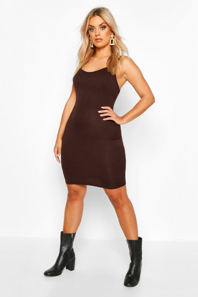 Boohoo Plus Scoop Neck Basic Bodycon Dress