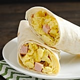 Ham, Egg, and Green Chile Homemade Frozen Breakfast Burritos