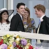 Eugenie, Beatrice, and Harry