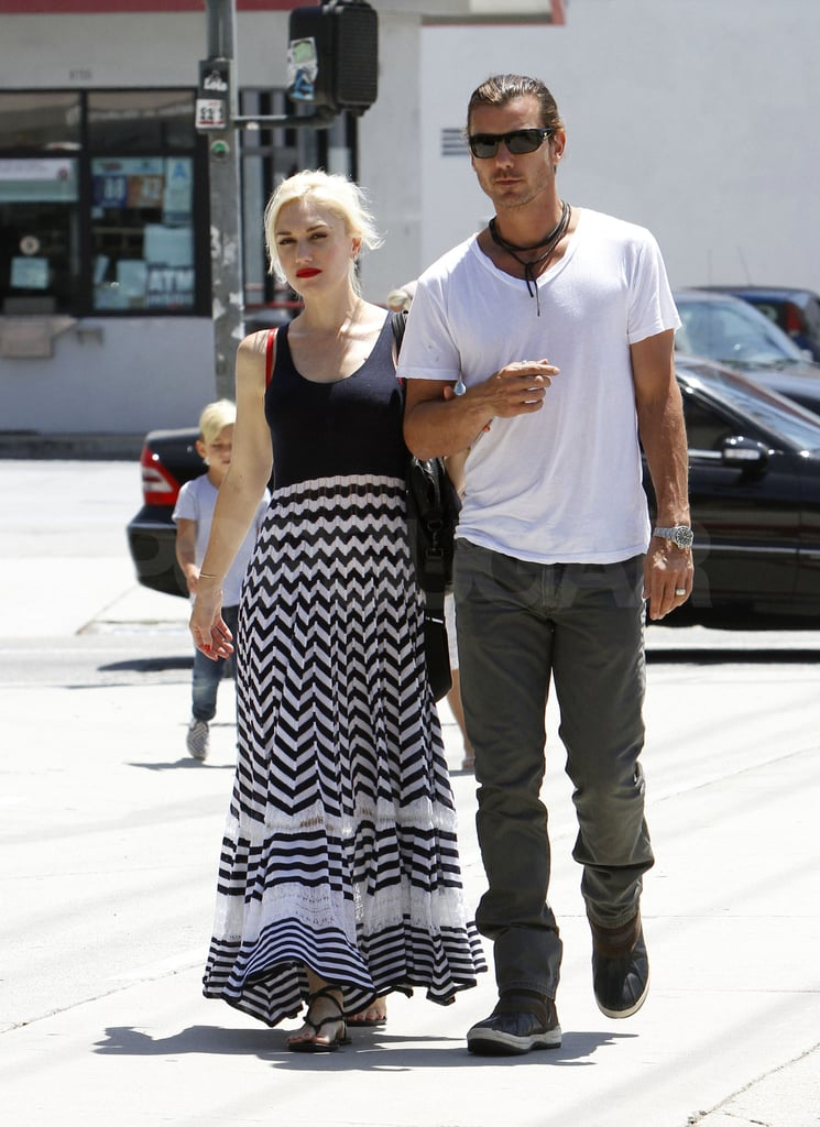 Gwen Stefani and Gavin Rossdale show PDA.