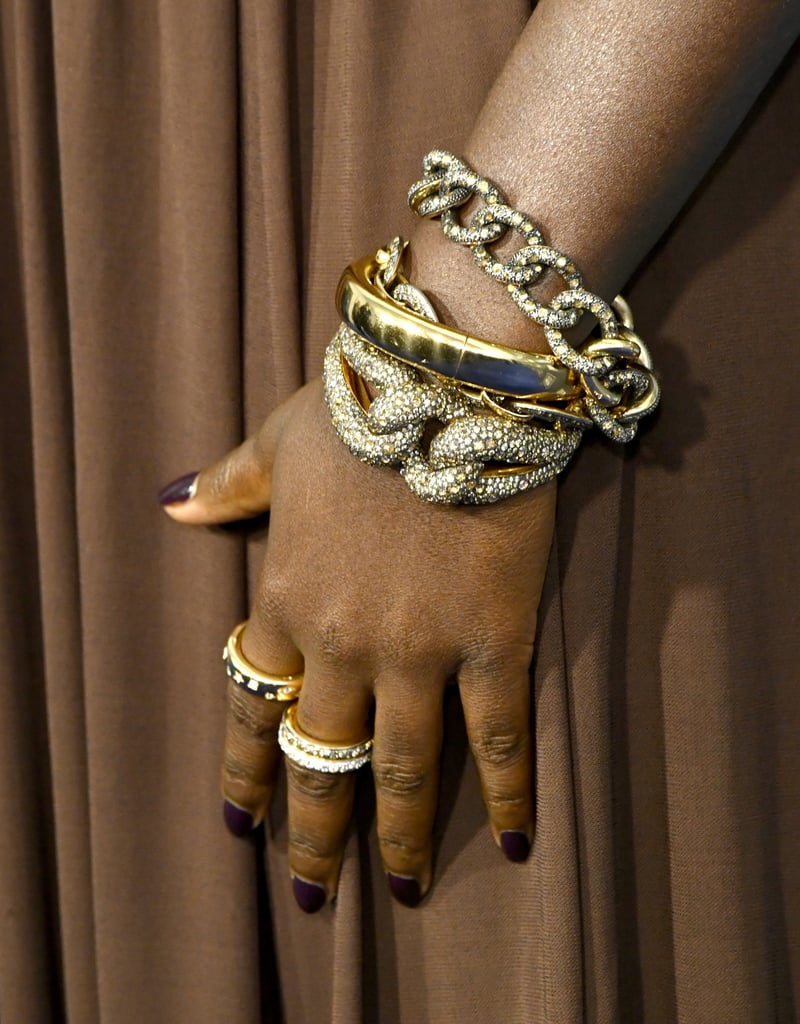 Lupita Nyong'o's Mulberry Manicure at the 2020 Critics' Choice Awards
