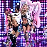 Relive the Exact Moment Ariana Grande Got Smacked by a Victoria's Secret Angel