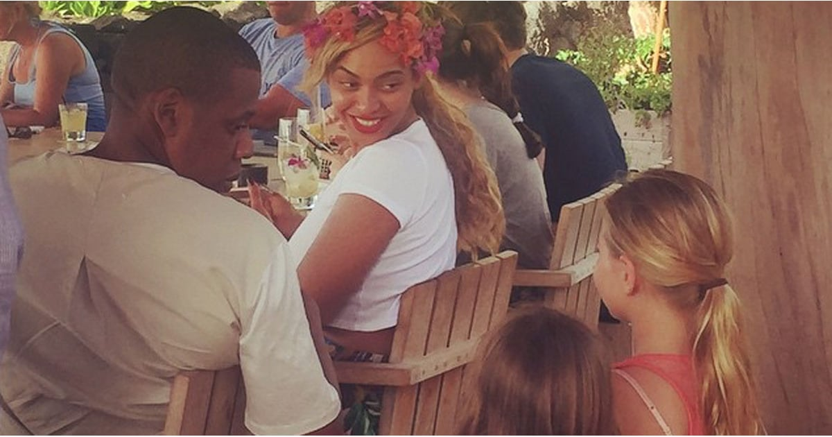 beyonce and jay z meet young fan in hawaii popsugar