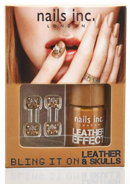 Nails Inc Bling It On Tan Leather and Skulls (£19)