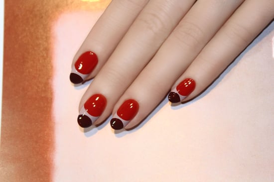 Modern Half-Moon Nail Art DIY