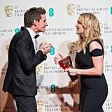 With Eddie Redmayne