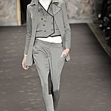 Hilary Rhoda walking Fall 2008 Rag & Bone