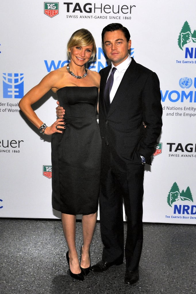 Cameron Diaz and Leo attended a Tag Heuer event in November 2012.
