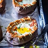 Mexican Stuffed Sweet Potatoes With Eggs