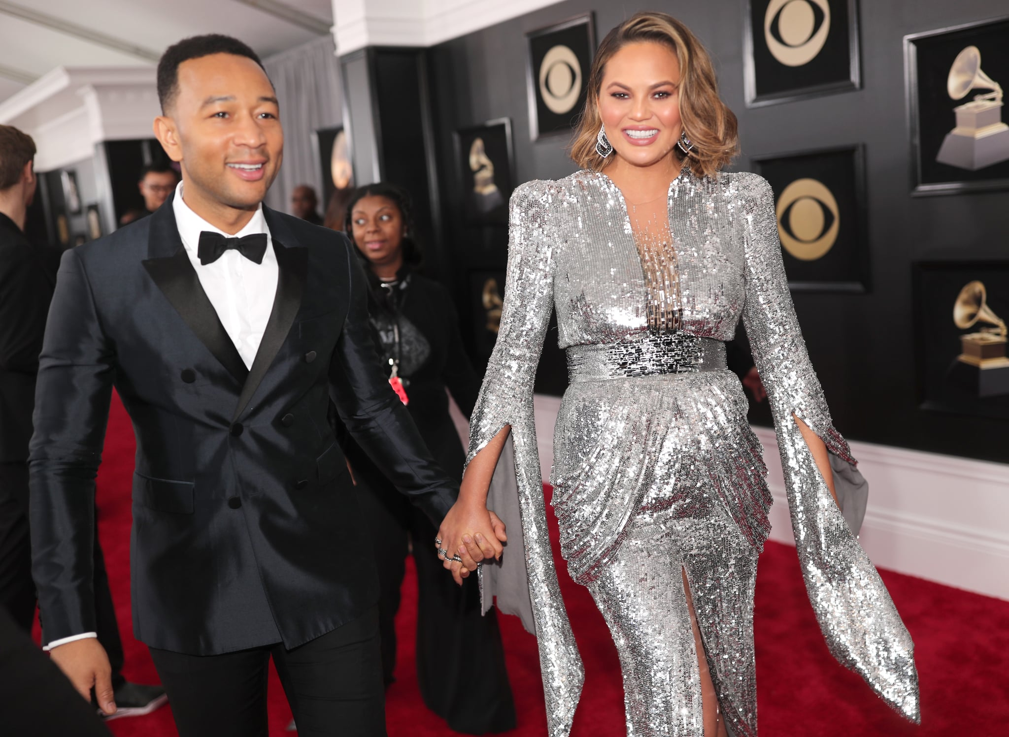 NEW YORK, NY - JANUARY 28:  Recording artist John Legend and model Chrissy Teigen attend the 60th Annual GRAMMY Awards at Madison Square Garden on January 28, 2018 in New York City.  (Photo by Christopher Polk/Getty Images for NARAS)