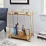 Better Homes & Gardens Giana Metal & Wood Modern Bar Cart