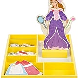 Melissa & Doug Disney Princess Belle Wooden Magnetic Dress-Up Doll