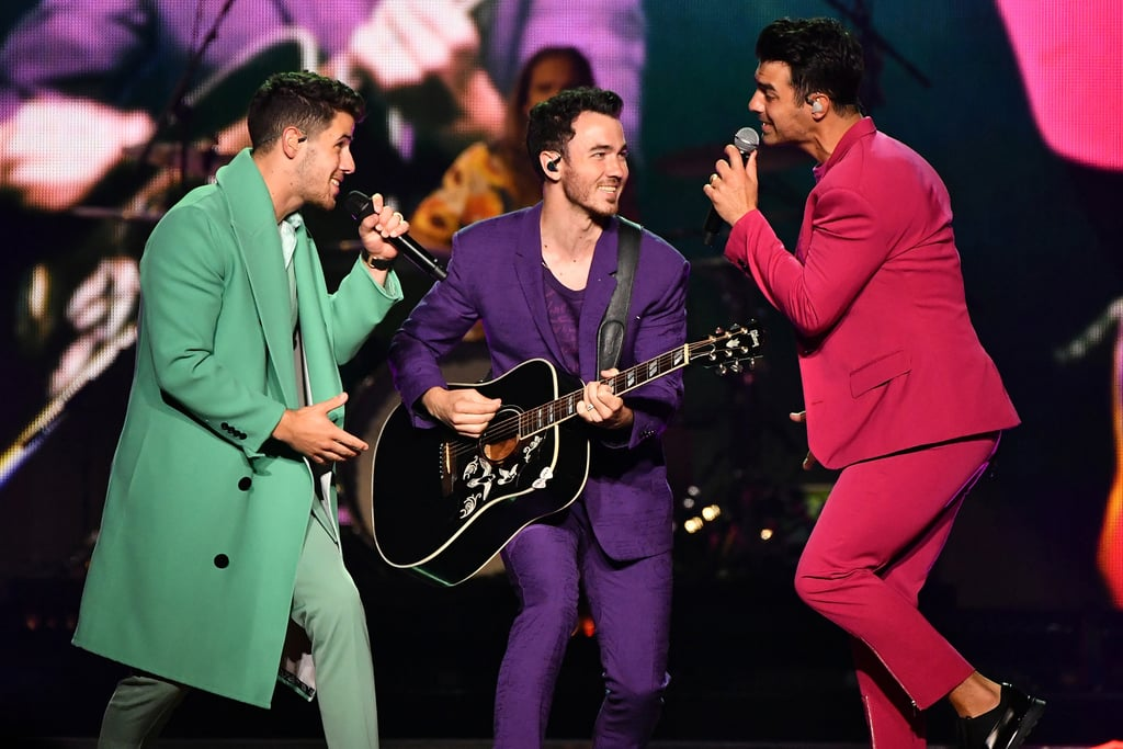 "The Jonas Brothers are currently traveling across the country for their Happiness Begins Tour and it looks like a nonstop blast. In addition to getting support from their loved ones in the crowd — including the J Sisters and Kevin's two daughters, Alena and Valentina — the show includes some of the bands biggest hits like ""S.O.S."" and ""Sucker.""  From their flashy costumes to the incredible set list, I can say from first-hand experience that the concert is truly a night you'll never forget. The Jonas Brothers are back, baby! Get pumped for the show by looking through some of the best pictures.      Related:                                                                                                           New Music, a Documentary, and a Memoir: All the Details About the Jonas Brothers Reunion"