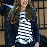 Kate Middleton cracked up after playing some impromptu volleyball.