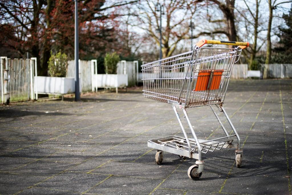 Not returning your shopping cart.