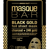 MasqueBAR Black Gold Foil Charcoal and 24k Gold Sheet Mask