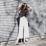 For Daytime, Try Pairing With a Shrunken Top and Statement Shoes