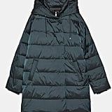 Zara Hooded Down Puffer Jacket