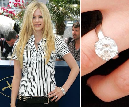 avril lavigne celebrity engagement ring pictures