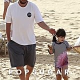Adam Sandler and his daughters soaked up the Hawaiian sun on Christmas Day.