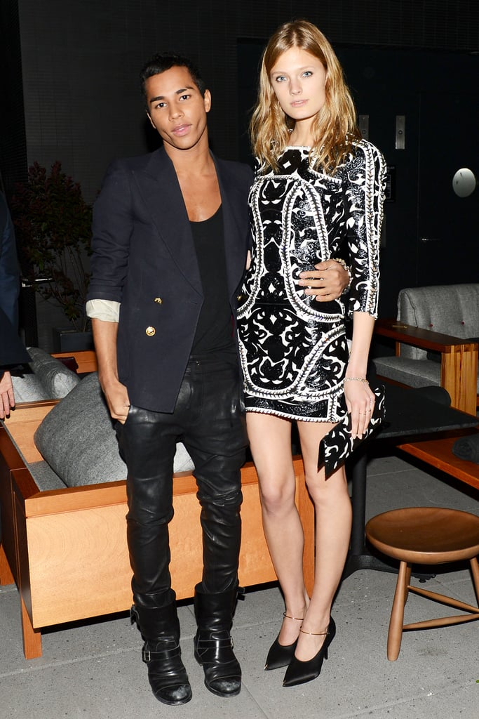 Olivier Rousteing and Constance Jablonski