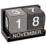 Desk Calendar With Wood Blocks
