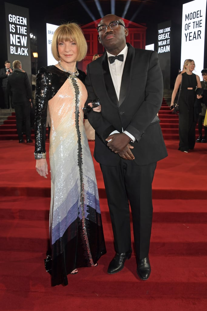 Anna Wintour and Edward Enninful at the British Fashion Awards 2019 in London