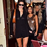 Kendall Jenner Leaving Cipriani Downtown with Kim Kardashian and Lala Anthony