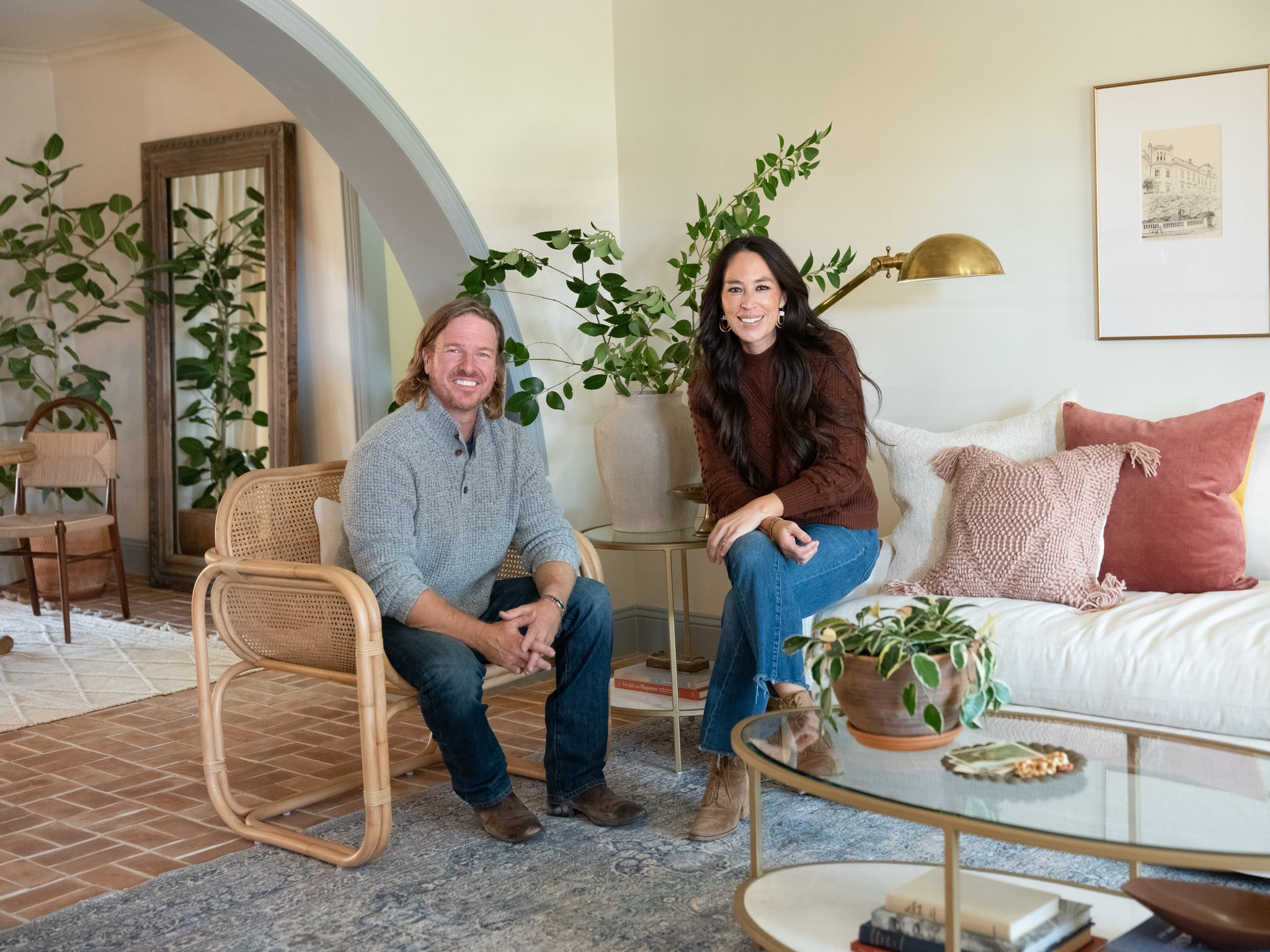 Portrait of Chip and Joanna Gaines at Deibel Reveal, as seen on Fixer Upper, Season 6 .
